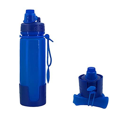 WTALL Frasco Plegable Suave, Botella de Agua de 500 ml, vejiga de Agua de hidratación para Correr, maratón, Ciclismo, senderos, Senderismo