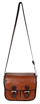 DURAGADGET Brown PU Vintage Brown Leather Satchel Carry Bag for The Eufy Genie