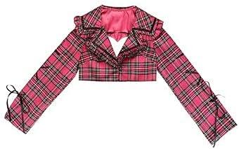 Japanese Harajuku Girls Rose Red Plaid High Waist Mini Skirt Suit Women Kawaii Sets-coat-M