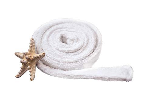 Tuva Home Weißer Baumwollegürtel für Bademantel Bademantelgurt, Frottee Bademantel, Frottee Gurt, geschmeidig und angenehm anzufassen 180cm