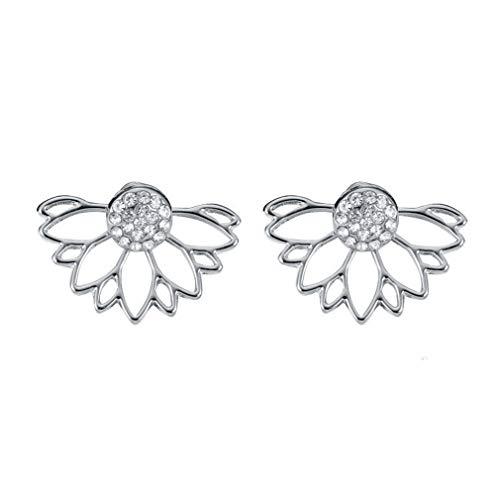 MOONRING Cutout Ohrstecker Sun Flower Ohrstecker Lotus Ohrringe Doppelohrringe, Silber