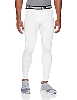 Starter Men s 28  Athletic Light-Compression Leggings Amazon Exclusive White Large