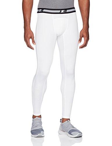 Starter Men's 28' Athletic Light-Compression Leggings, Amazon Exclusive, White, Large