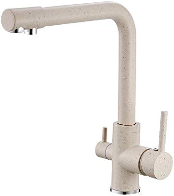 MXQH Spültischarmaturen Becken Wasser Küchenarmatur DREI-in-One-Warm-und Kalt-Küche Pure Waschbecken Wasserhahn