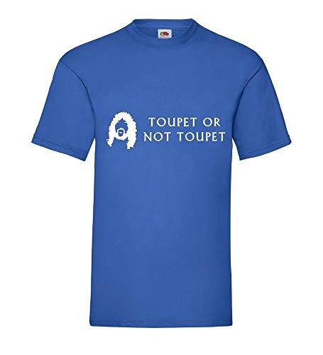 Toupet or not Toupet Männer T-Shirt Royal Blau 3XL - shirt84.de