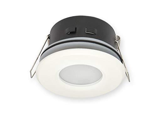 Vochtige ruimtes IP20/44 inbouwspot GU10 inbouwframe downlight waterdicht Ø70mm boorgat aluminium incl. GU10 fitting voor LED-lampen, rond, wit