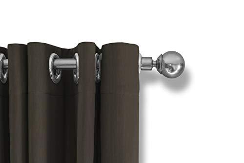 LIFA LIVING Verduisterende Gordijnen, Donker Taupe Polyester Gordijn, Modern Geluidswerend Gordijn met Ringen voor Woonkamer, Slaapkamer, 300 x 250 cm