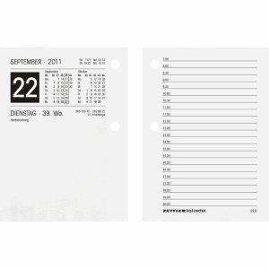 Umlegekalender-Ersatzblock 336g, Kalendarium 1 Tag/2 Seiten, 80mm breit, weiß