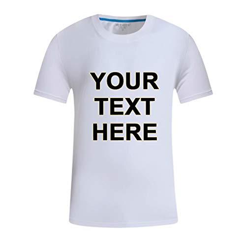 T-Shirt Personalizada con Frase DIY Talla Mediana Color Blanco Ropa de Manga Corta para Veranos Calientes