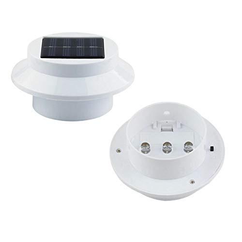 Dibiao 1Pc Solarlicht 3Led Solarbetriebenes Licht Gartenmauer Zaun Dachrinnen Lichter für Hausgarten Dekoration