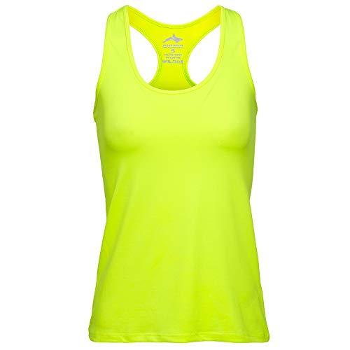 Killer Whale Ärmellose Sporthemden für Damen (Gelbes Neon, L DE)