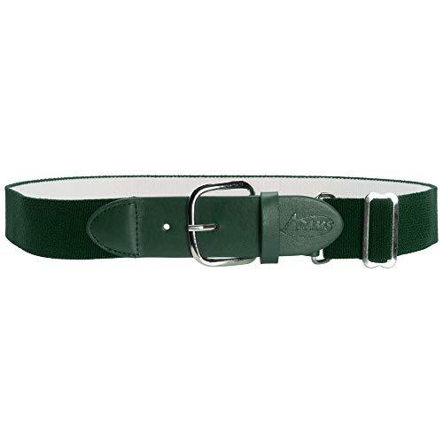 ADAMS USA Adult Elastic Belts Elastic Baseball/Softball Belt, Dark Green, 1 1/4' 18-32'