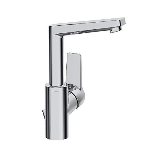 Hansa-09542203 twist-Miscelatore per lavabo alto, modello testa compatto, scarico automatico, finitura cromata