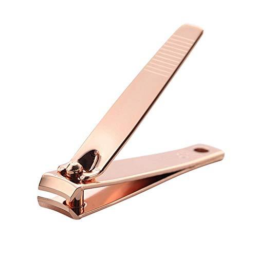 Gouen 1PC Acero al CarbonoCortador deuñas Profesional para uñasReparación de Oro Rosa Herramientas de Dedo del pie Tijeras de Dedo del pie, Amarillo Claro