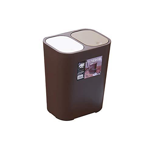 LYUHFGB Haushalt Kreative Küche Trocken- und Nass Trennung Wohnzimmer Covered Badezimmer Müll Klassifizierung Trash Can Multifunktionale Trash Can,A
