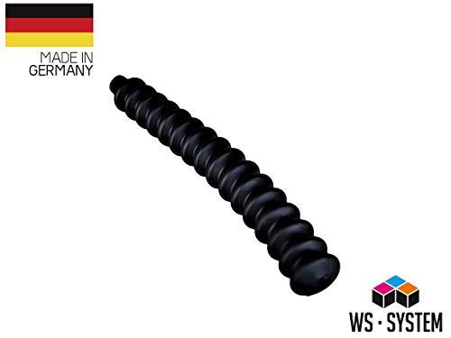 2 Stück Universal Faltenbalg Gummi Manschette Anhänger L 235mm Ø 5mm / Ø 14mm