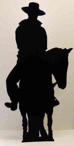 Cowboy on a Horse (Silhouette) - Silhouette LEBENSGROSSE PAPPFIGUREN / STEHPLATZINHABER / AUFSTELLER