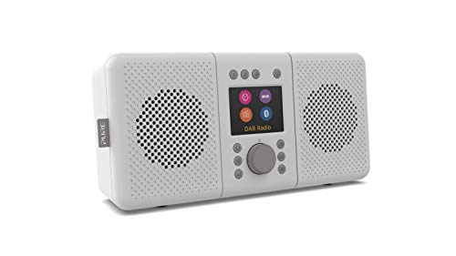 Pure ELAN CONNECT+ - Radio Internet stereo multifunzione con DAB e Bluetooth 5.0 (DAB/DAB+ radio digitale, radio FM, Internet Radio, display TFT, 20 preset, streaming musicale, podcast), grigio pietra