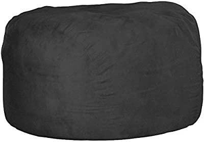 Comfy Sacks 6 ft Memory Foam Bean Bag Chair, Charcoal Micro Suede