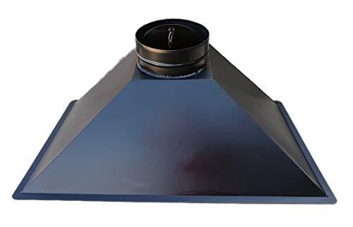 CAPPA PER CAMINO FOCOLARE A LEGNA L 105 x P 55 x H 40 USCITA FUMI DIAMETRO 25 cm