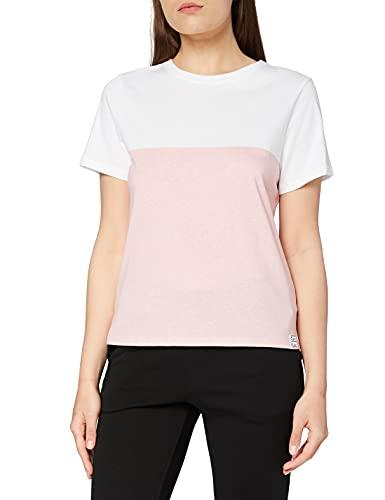 Calvin Klein S/S Crew Neck Capa de Base, Blanco_atraer, L para Mujer