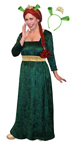 Plus Size Fiona Halloween Costume Dress Ears Crown 3pc Basic Kit 1x