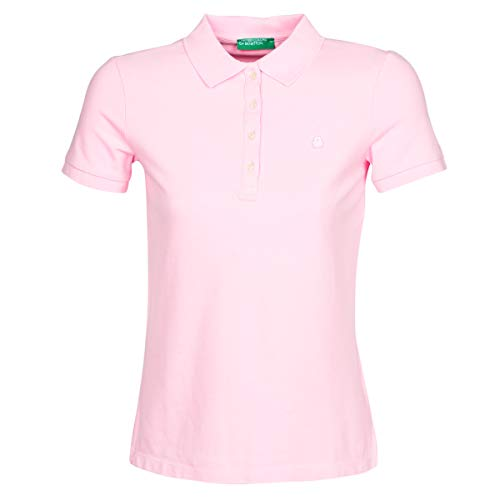 United Colors of Benetton Damen Polo Poloshirt, Pink (Lilac Sachet 14p), Medium