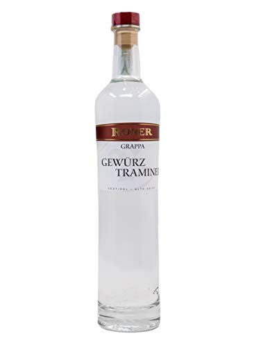 Roner Gewürztraminer (1x 0,5l) - Grappa Monovitigno Distilleria Artigianale Alto Adige Südtirol piu premiata d'Italia - 500 ml