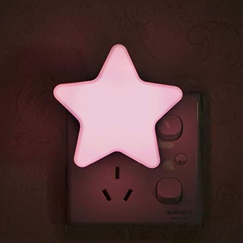 zuoshini Luz Nocturna Infantil Lampara Nocturna Enchufe Lámpara de Noche Niños Luz de Noche Estrella LED con Sensor de Luz Automático para Habitación Bebé Dormitorio Sala Pasillos