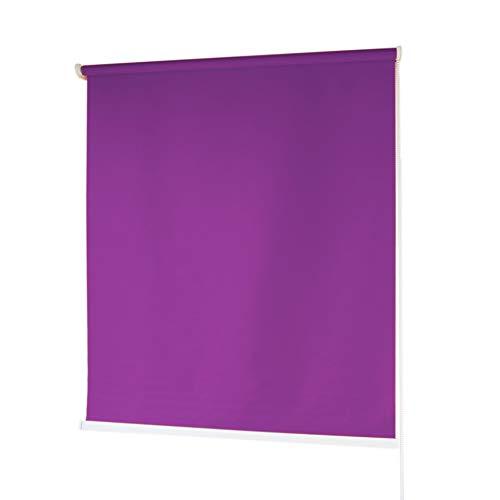 Estores Baratos Enrollables · Estores para Ventanas en Tela de Poliéster · Stores Ventanas con Mecanismo y Cadena en PVC · Color Morado · Medidas (150x180 cm)