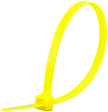 8 Inch Black Standard Nylon Cable Tie - 100 Pack