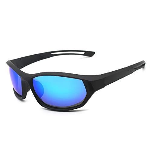 LATEC Occhiali da Sole Sportivi Polarizzate Occhiali Leggeri con Protezione UV400 e TR90 Unbreakable Frame