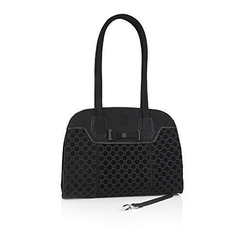 Ruby Shoo Damen Handtasche Siena Velvet Dots Henkeltasche Schwarz