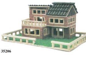 Kit construcción casita ladrillos escala 1:20 Keranova 35206