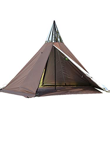 3 Person Tipi Hot Tent 2 Doors Camping Teepee Tent with Stove Jack 7.2FT 4 Season Teepee Tents for Family Team