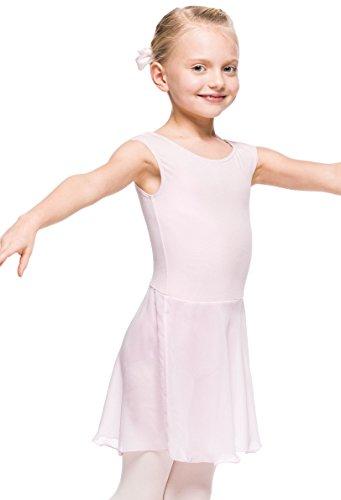 Arabesque Klassische Ballettkleidung mit asymmetrischen Chiffontunika Aurora (Rosa, 98/104)