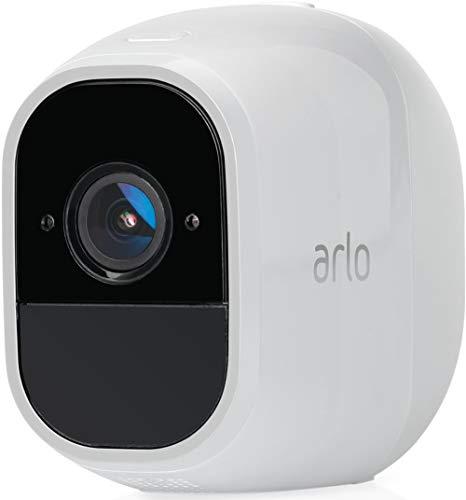 Arlo Pro2 Überwachungskamera & Alarmanlage, 1080p, Zusatzkamera, kabellos, Innen / Aussen, Bewegungsmelder, Nachtsicht, 130 Grad Blickwinkel, Smart Home,WLAN, 2-Wege Audio, wetterfest, VMC4030P, Weiß