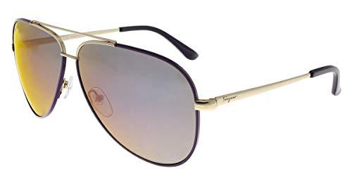 Ferragamo SF131S Wayfarer Sonnenbrille 60, Violett