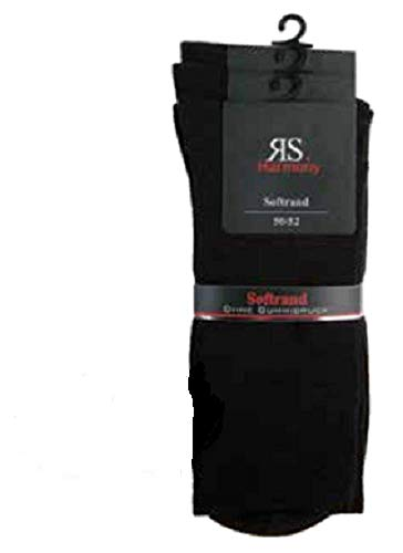 by Riese 6 Paar XXL schwarze Business-Socken 80prozent Baumwolle Gr.50/52