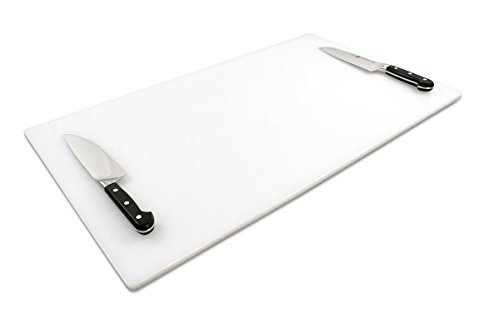 NSF Approved Commercial Use Plastic Cutting Board, 18x30 1/2