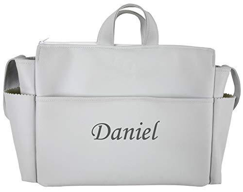 danielstore- Bolso Talega Personalizada con nombre bordado de Polipiel