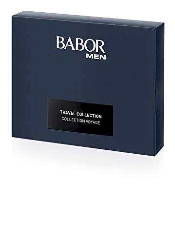 BABOR MEN Travelset, huidverzorgingsset met crèmes, aftershave en huid- & haarshampoo, voor mannen, cadeauset, schoon & effectief, 4 stuks