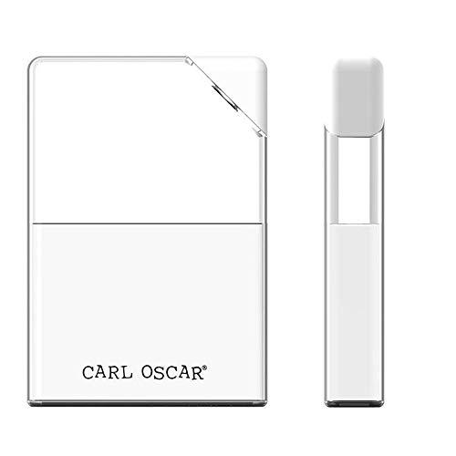 Carl Oscar Flache Trinkflasche 0,4 Liter transparent auslaufsicher im Taschenbuchformat mit weißem Verschluß, perfekt zu verstauen, 17 x 12 x 3 cm Wasserflasche Sport Outdoor ECO-Friendly Reisen