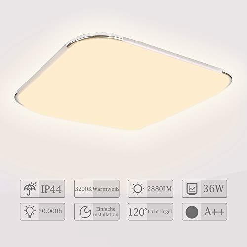 Hengda Plafon led de techo, 36W lamparas de techo habitacion, Moderna LED Plafón para Sala de Estar Baño Dormitorio Cocina Balcón...