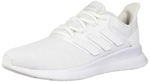 adidas Women's Falcon Running Shoe, White/White/Black, 9 M US