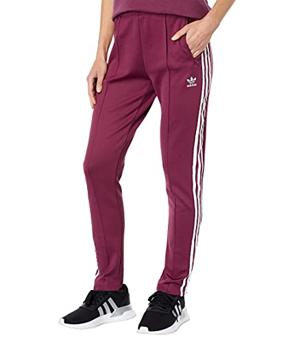 adidas Originals Women's Primeblue Superstar Track Pants, Victory Crimson, XX-Small