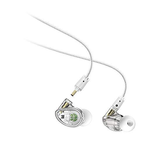 MEE Audio - MX1 Pro - Controlador dinámico, Personalizable, Aislamiento de Ruido, Universal, Modular, para músicos con Cables Desmontables, Transparente