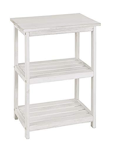 Preisvergleich Produktbild HAKU Möbel 26318 Regal 42 x 30 x 62 cm,  weiß gewischt