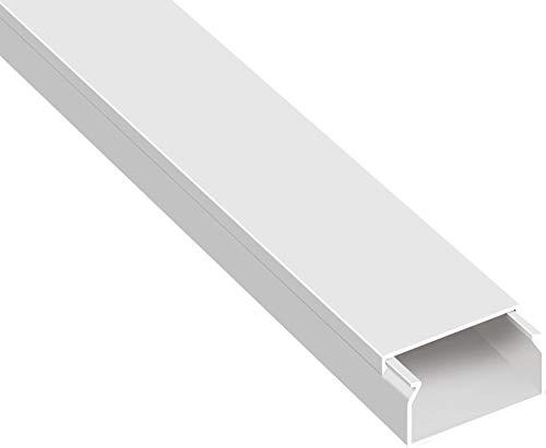 SCOS Smartcosat AVC-123 5m Kabelkanal Weiß Selbstklebend 5X 100cm 40x16mm Deckenkanal bestehend aus Unterteil und Oberteil zur Montage direkt auf der Wand