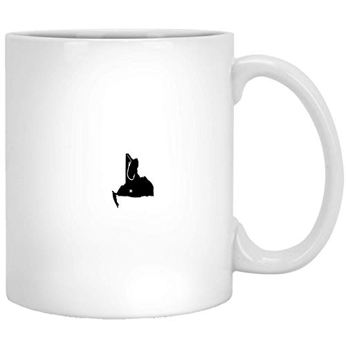 New York Vishengelaar State Fish Hook - Love U.S State Proud White Mug